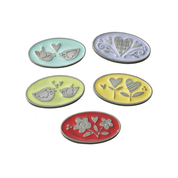 3Yellow/Red/Blue Decorative Relationship Token Set (Set of 35) by The Holiday Aisle