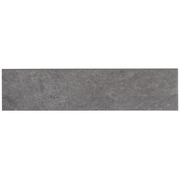 Slate Attaché 24 x 3 Porcelain Bullnose Tile Trim in Meta Dark Gray by Daltile