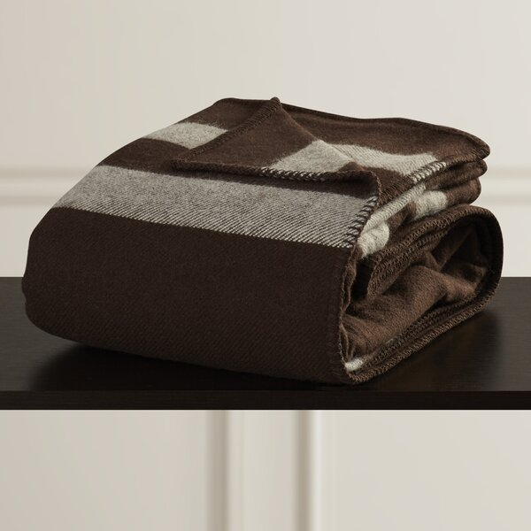 Macalester Australian Wool Throw Blanket by Three Posts