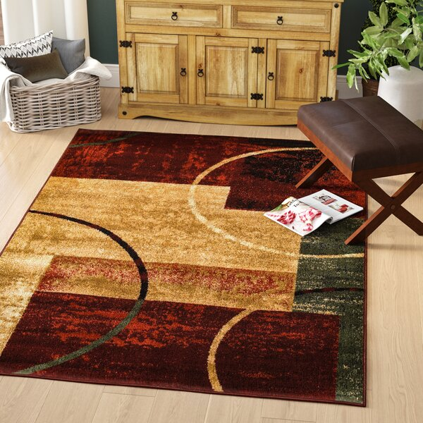 Eileen Red Area Rug by Andover Mills