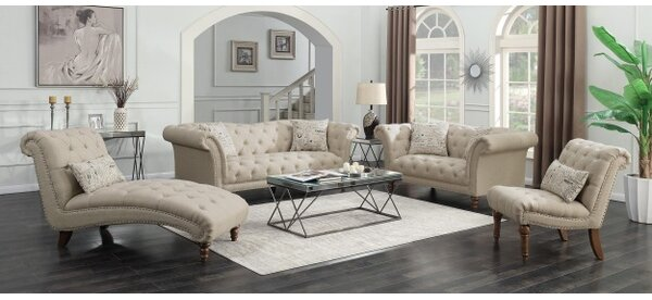 Tab 4 Piece Living Room Set by Canora Grey