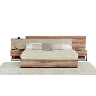 platform bed with nightstand. Daughtery Italian Upholstered Platform Bed With Nightstand A