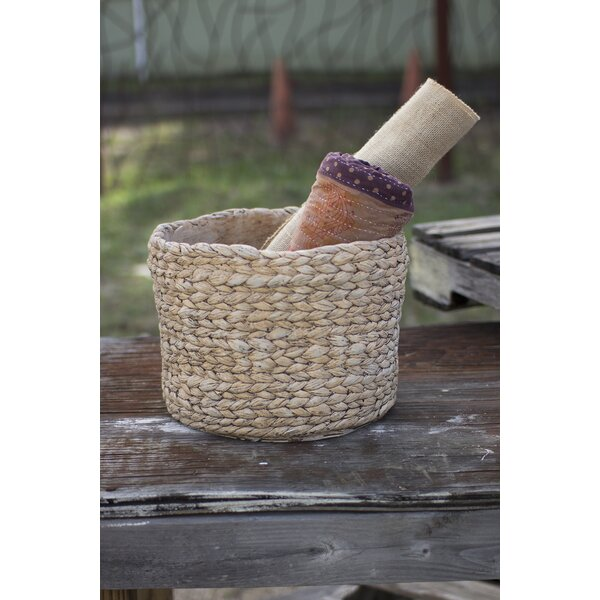 Hudnall Braided Cement Pot Planter by Highland Dunes