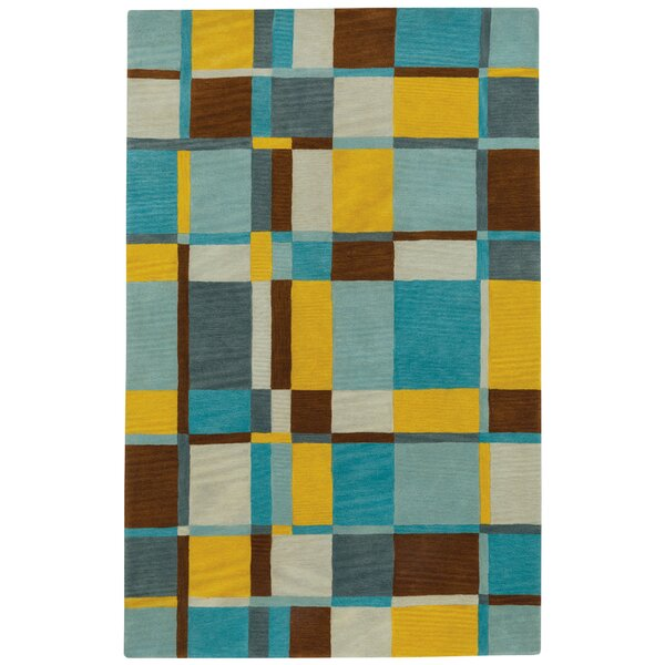 Left Bank Hand-Tufted Blue/Yellow Area Rug by Capel Rugs