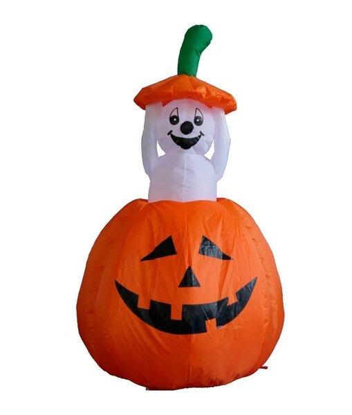 Halloween Inflatable Pumpkin Ghost Decoration by The Holiday Aisle