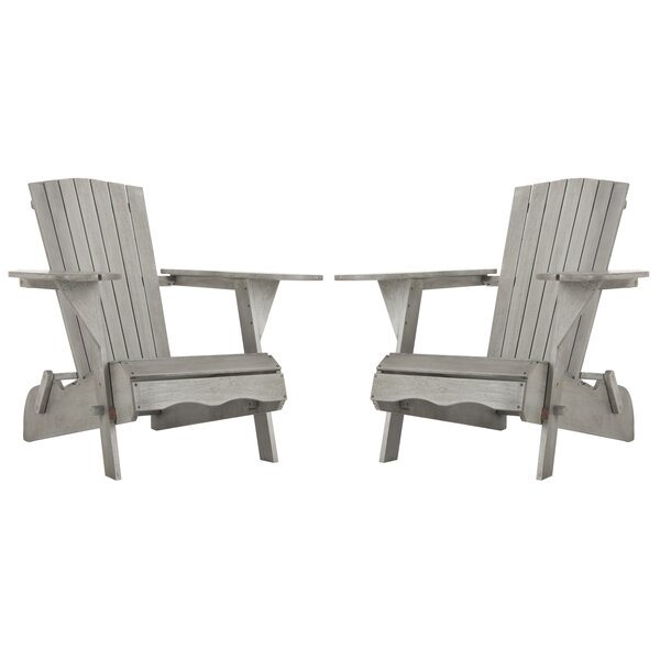 Boonville Solid Wood Adirondack Chair (Set of 2) by Highland Dunes