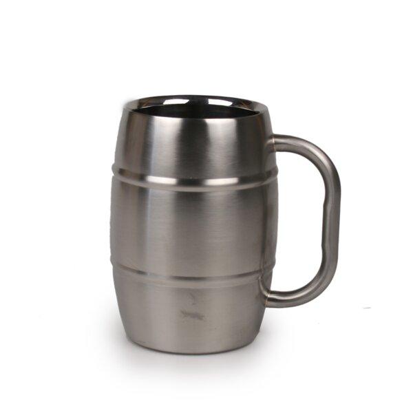 Beer Barrel 16 oz. Stainless Steel Mug by Jodhpuri