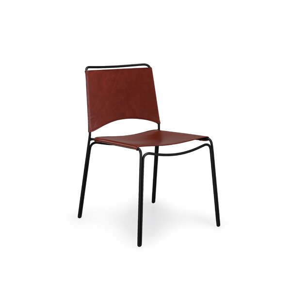 Trace Genuine Leather Upholstered Dining Chair by m.a.d. Furniture