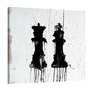 'Mr. & Mrs. Queen' by Kent Youngstrom Painting Print on Wrapped Canvas by Jaxson Rea