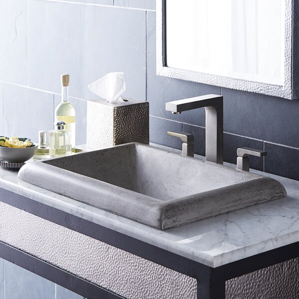 Montecito Stone Rectangular Drop-In Bathroom Sink by Native Trails, Inc.