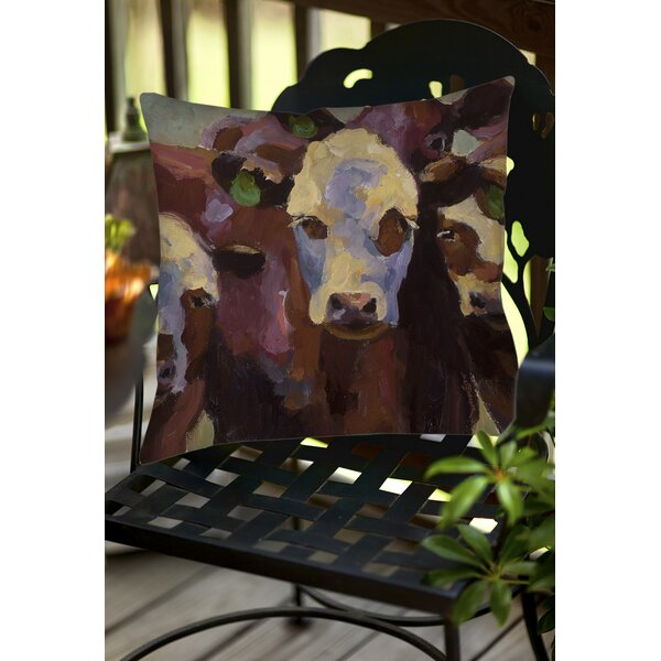Class Picture Indoor/Outdoor Throw Pillow by Manual Woodworkers & Weavers