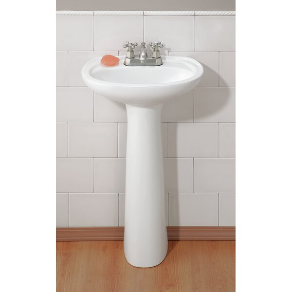 Fiore Vitreous China 21 Pedestal Bathroom Sink with Overflow by Cheviot Products