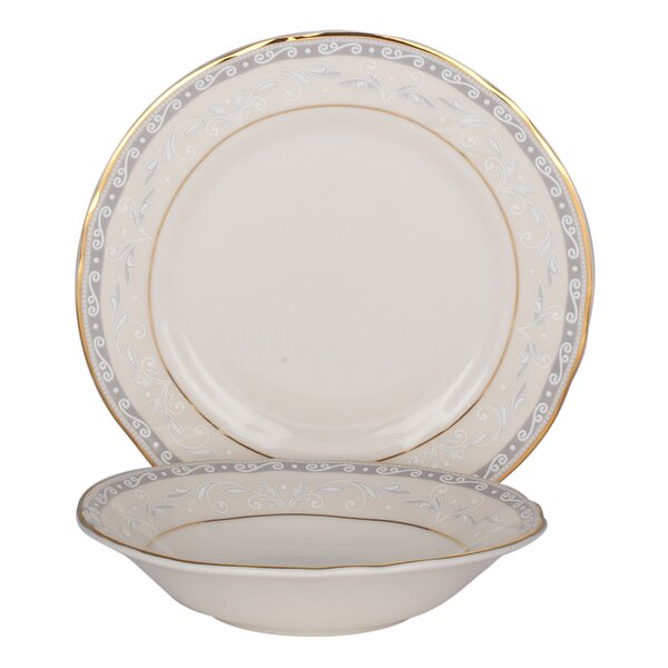 Everglades Bone China 24 Piece Completer Set by Shinepukur Ceramics USA, Inc.