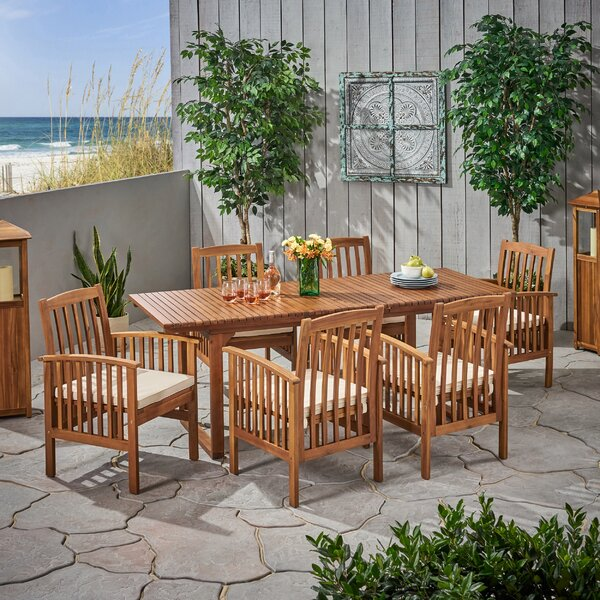 Cosimo 7 Piece Dining Set with Cushions by Breakwater Bay