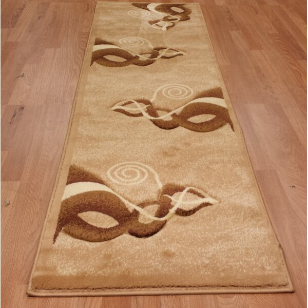 Hand-Carved Brown/Beige Area Rug by Rug Tycoon