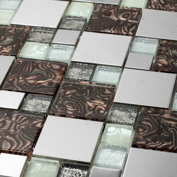 Venetian Random Sized Glass and Aluminum Mosaic Tile in Florence by Giorbello