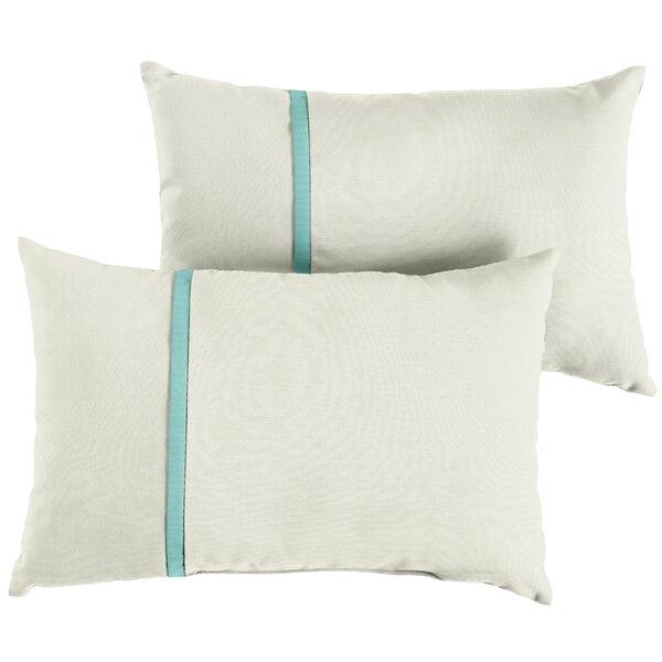 Fortner Indoor/Outdoor Sunbrella Lumbar Pillow (Set of 2) by Charlton Home