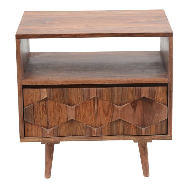 Deepwell 1 Drawer Nightstand by Langley Street