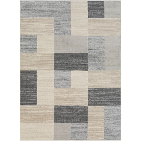 Ashlee Geometric Light Gray/Taupe Area Rug by Orren Ellis