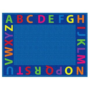 Best A-Z Circle Time Seating Blue Area Rug ByECR4kids