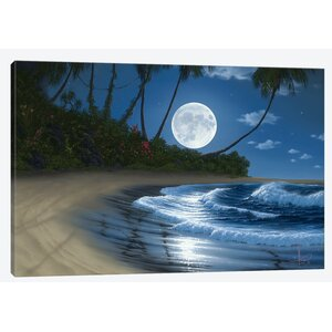 Bathed in Moonlight Painting Print on Wrapped Canvas by East Urban Home