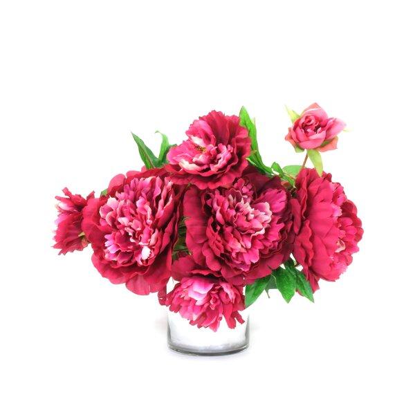 Peonies Centerpiece in Decorative Vase by Red Barrel Studio