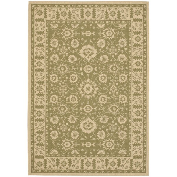 Beasley Olive/Creme Outdoor Area Rug by Astoria Grand