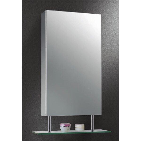 Mariela Edge Mirror Door 26 x 19 Surface Mount Frameless Medicine Cabinet with 2 Adjustable Shelves by Orren Ellis