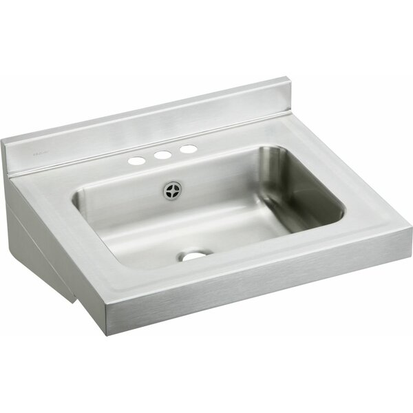 Metal 22 Wall Mount Bathroom Sink by Elkay
