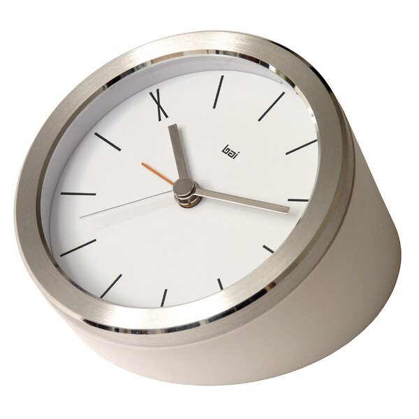 Blanco Executive Alarm Clock by Bai Design
