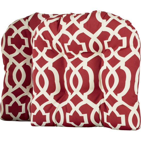 Oakstwain Indoor/Outdoor Seat Cushion (Set of 2) by Alcott Hill