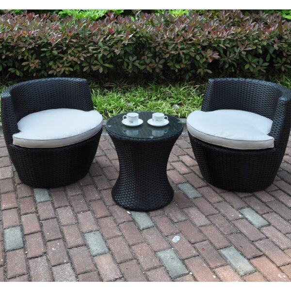 Anthonyson 3 Piece Conversation Set with Cushions by Bloomsbury Market
