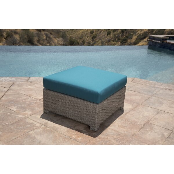 Koerner Outdoor Ottoman with Sunbrella Cushions by Red Barrel Studio