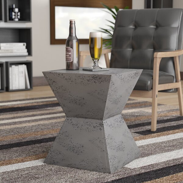 Trefann Concrete Square Stool by Wade Logan