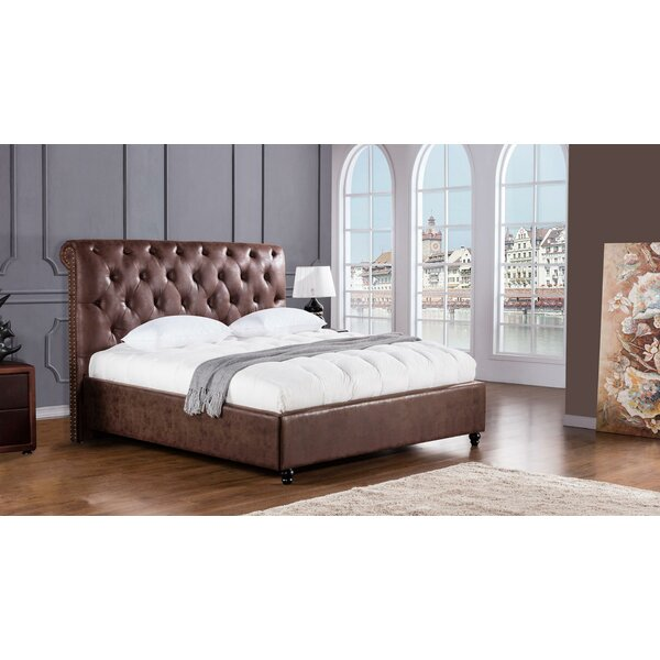 Bayview Leatherette Upholstered Sleigh Bed by Canora Grey