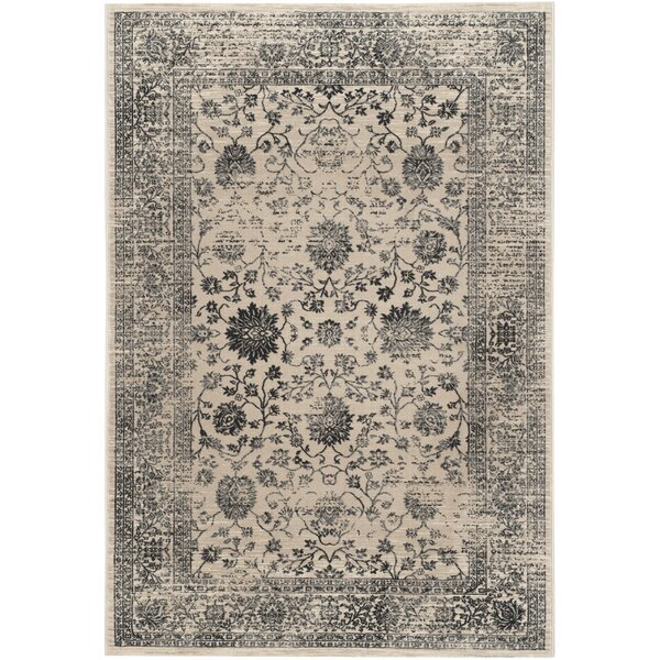 Minonk Beige & Blue Area Rug by Darby Home Co