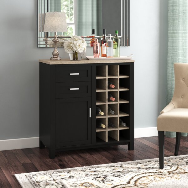 Zahara Bar Cabinet with Wine Storage by Andover Mills Andover Mills