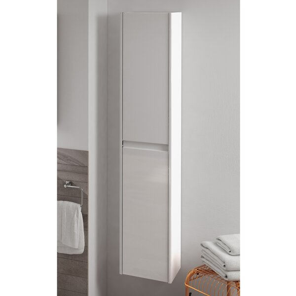 Ambra 11.8 W x 59.1 H Wall Mounted Cabinet by WS Bath Collections
