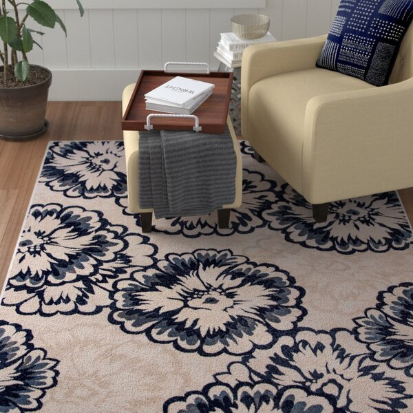 Amy Ivory/Blue Area Rug by Winston Porter