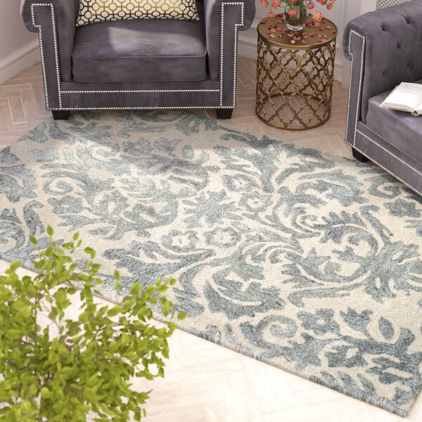 Mcguire Hand-Tufted Ivory/Silver Area Rug by Willa Arlo Interiors