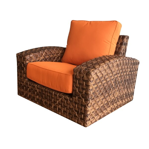 Lankford Patio Swivel Chair with Cushions by Bayou Breeze
