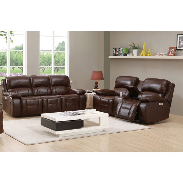 Kostka 2 Piece Leather Reclining Living Room Set by Red Barrel Studio Red Barrel Studio