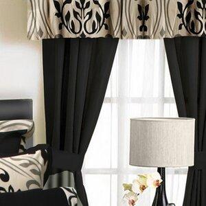 Penryn 6 Piece Solid Semi-Sheer Rod Pocket Curtain Panels