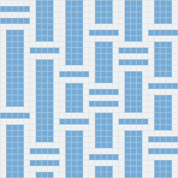 Urban Essentials Modern Bamboo 3/4 x 3/4 Glass Glossy Mosaic in Lakefront Blue by Mosaic Loft