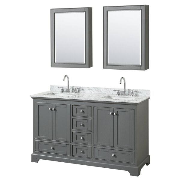 Deborah 60 Double Bathroom Vanity Set with Medicine Cabinet by Wyndham Collection