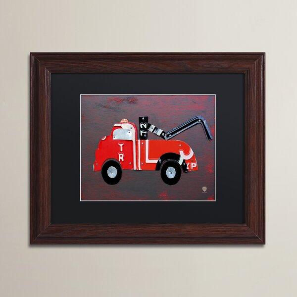 Leta Tow Truck by Design Turnpike Framed Art by Zoomie Kids