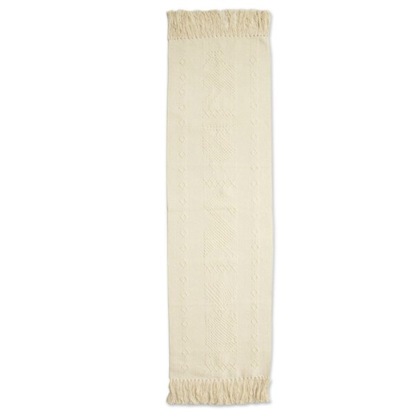 Martelli Inner Peace Cotton and Silk Table Runner by Bloomsbury Market