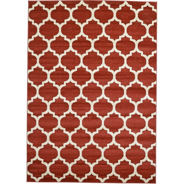 Brooklyn Cobble Hill Red/Ivory Area Rug by Rugs America