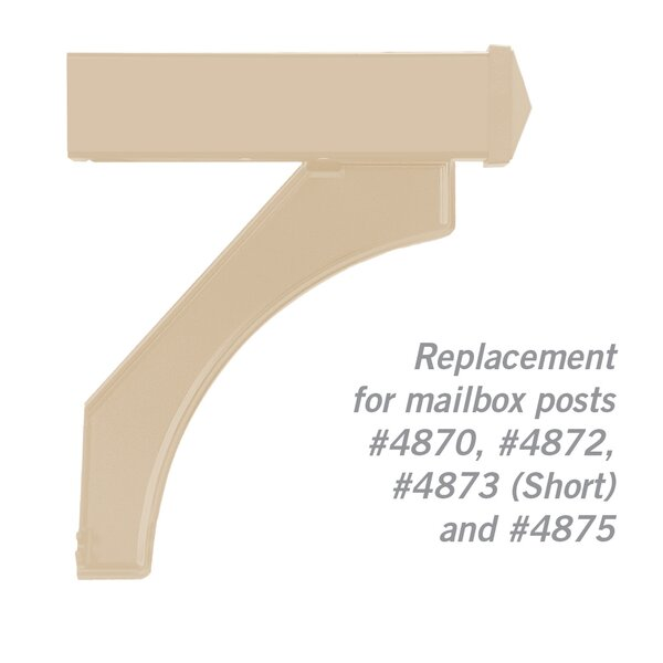 Deluxe Mailbox Post Arm Kit Replacement by Salsbury Industries