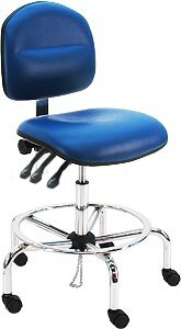 Vinyl Ergonomic ESD Anti Static Swivel Drafting Chair by Symple Stuff